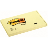 Viestilappu Post-it 655 76X127mm keltainen