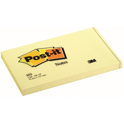 Viestilappu Post-it 76x127 mm 655 keltainen