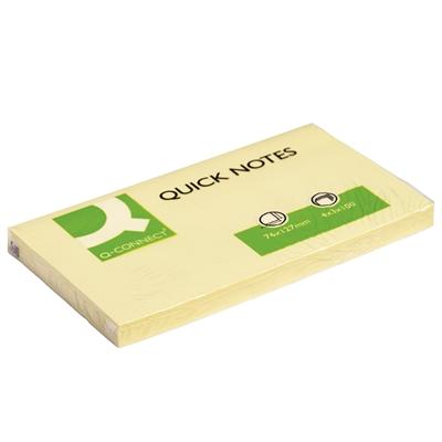 Viestilappu Q-Connect 76X127mm keltainen