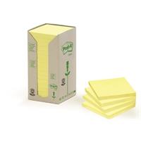 Viestilappu Post-it Eko 654 76X76mm keltainen /16 kpl pkt - 100 % uusiopaperia