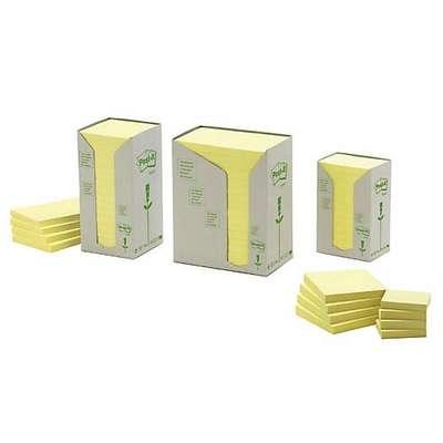 Viestilappu Post-it Eko 655 76X127mm keltainen /16 kpl pkt - 100 % uusiopaperia