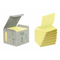 Viestilappu Post-It Z-note Eco/R330 keltainen/ 6 kpl