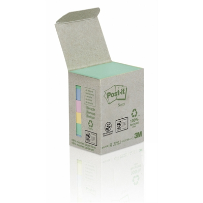 Viestilappu Post-it Eko 653 (38X51) pastelli, 6 kpl