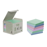 Viestilappu Post-it Eko 654 (76X76) pastelli /6 kpl pkt - 100 % uusiopaperia
