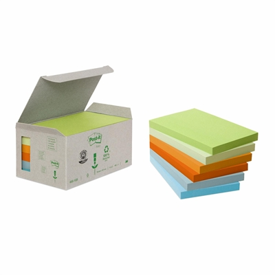 Viestilappu Post-it Eko 655 (76X127) pastelli, 6 kpl