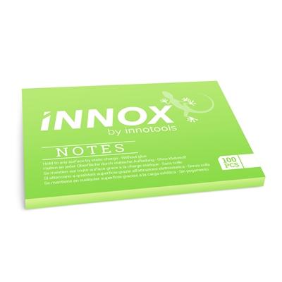 Viestilappu Innox Notes 100x70mm vihreä - Suomessa valmistettu sähköstaattinen viestilappu