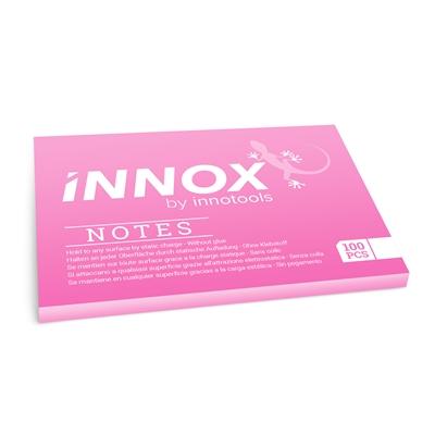 Viestilappu Innox Notes 100x70mm pinkki - Suomessa valmistettu sähköstaattinen viestilappu