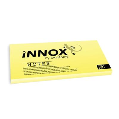 Viestilappu Innox Notes 200x100mm keltainen - Suomessa valmistettu sähköstaattinen viestilappu
