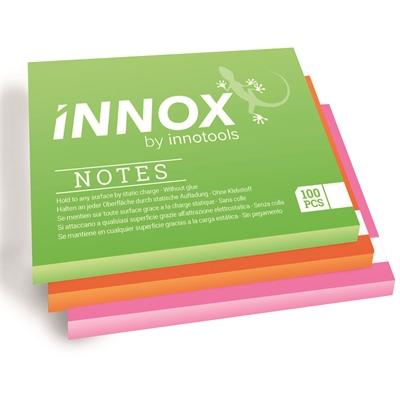 Viestilappu Innox Notes 10x10 cm 3 värin pakkaus - Suomessa valmistettu sähköstaattinen viestilappu