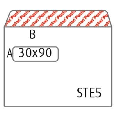 Isoikkunakuori E5 Postac STRH valk/1000
