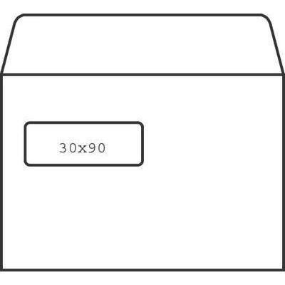 Ikkunakuori E5 Opus 90g SSS tarra 30x90 valkoinen/500