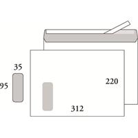 Ikkunakuori E4 Postac STAH 95x35 valk /500