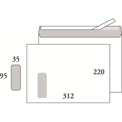 Ikkunakuori E4 Opus 100g SSS valkoinen/500