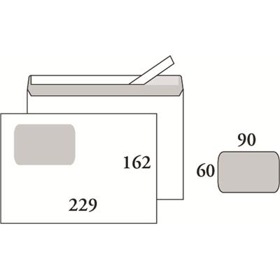 Isoikkunakuori C5 Opus 90g SSS 60x90 valkoinen/500