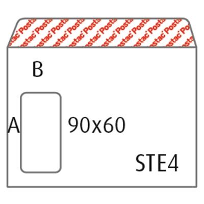 Isoikkunakuori E4 Postac STAH valkoinen /500 kpl ltk