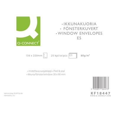 Ikkunakuori Q-Connect E5 100g tarra valk/25