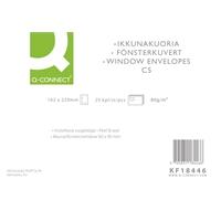 Isoikkunakuori Q-Connect C5 80g tarra valk/25