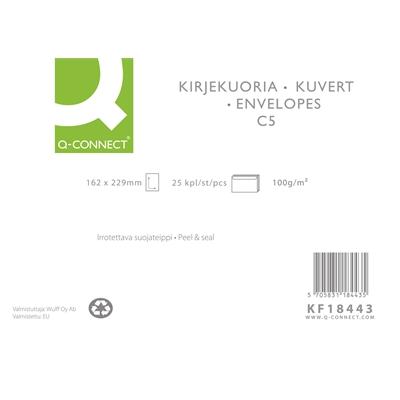 Uusiokuori Q-Connect C5 100g tarra ruskea/25