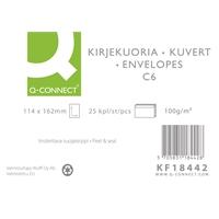 Uusiokuori Q-Connect C6 100g tarra ruskea/25
