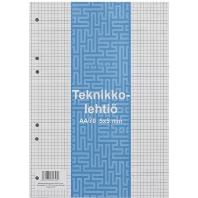 Teknikkolehtiö A4/70 5X5 liimaselkä