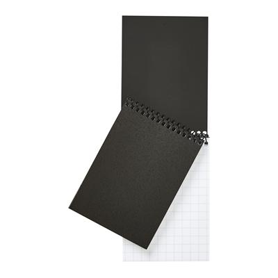 Muistilehtiö A7/40  musta