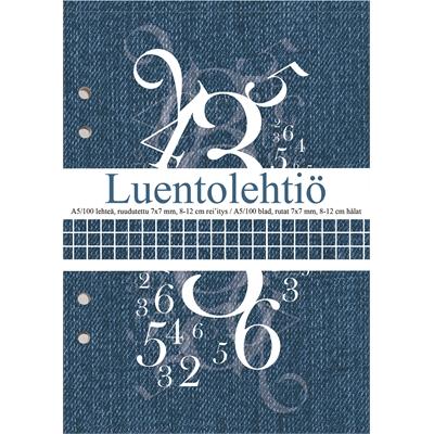 Luentolehtiö A5/100 7X7 LS 8-12 reijitys