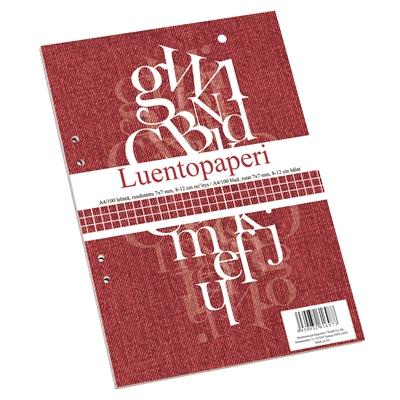 Luentopaperi A4/100 7X7 ruudutettu 8-12 reijitys