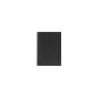 Kierrevihko pahvikantinen A6/80 ruudut 7 x 7 mm musta