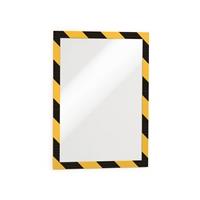 Infotasku / infokehys Duraframe A4 kelta-musta /2 kpl pkt - magneettikehys on helppo avata ja sulkea