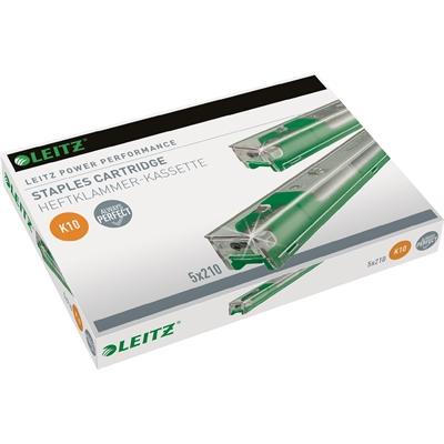 Niittikasetti Leitz K10 26/10 5X210 vihreä - kapasiteetti 55 arkkia