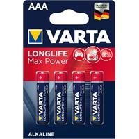 Paristo Varta Longlife Max Power AAA LR3 /4 kpl pkt - esim. kamerat ja peliohjaimet