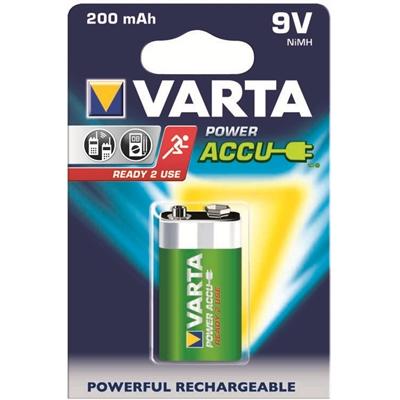 Varta Rechargable Accu 9V V7/8H/6F22 200 mAh ladattava