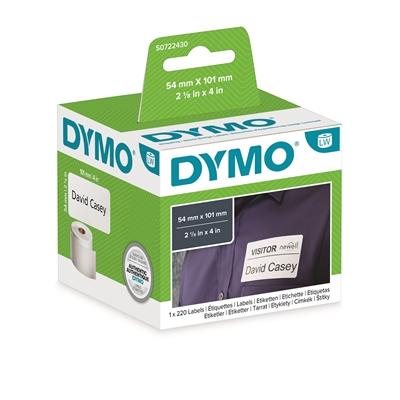 Tarra Dymo LW 54x101 mm saate/nimi/220 tarraa