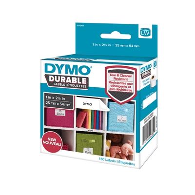 Tarra Dymo LW 25x54mm muovi/ 160 pysyvä liima - repeämätön ja kestää kuumuutta kosteutta liuottimia