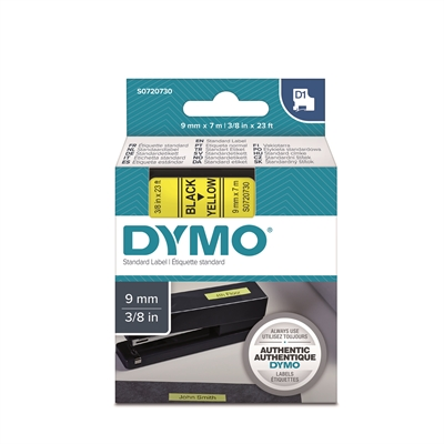 Image for TARRATEIPPI DYMO 9MM BLACK/YELLOW from Suomalainen.com