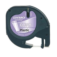 Teippi Dymo Letratag 12mm kirkas/musta
