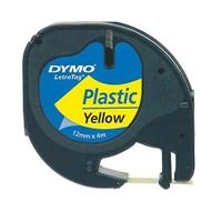 Teippi Dymo Letratag 12mm keltainen/musta