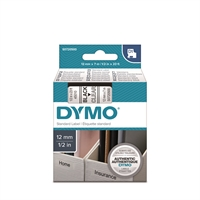 Tarrakasetti Dymo D1 45010 12mm kirkas/musta