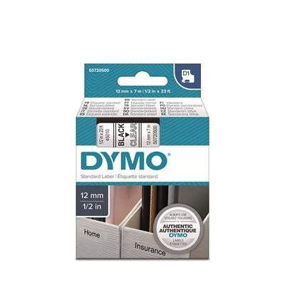 Tarrateippi Dymo 12mm kirkas/musta