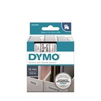 Tarrakasetti Dymo D1 45013 12mm valkoinen/musta