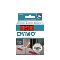 Tarrakasetti Dymo D1 45017 12mm punainen/musta