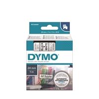 Tarrakasetti Dymo D1 53713 24mm valkoinen/musta