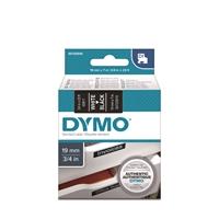 Tarrakasetti Dymo D1 45811 19mm musta/valkoinen