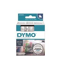 Tarrakasetti Dymo D1 24mm x 7m kirkas/musta