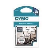 Tarrakasetti Dymo D1 nylon 19mm x 3,5m valkoinen/musta