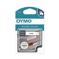 Tarrakasetti Dymo D1 polyesteri 19mm x 3,5m valkoinen/musta