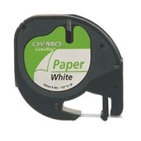 Teippi Dymo Letratag paperi 12 mm x 4 m
