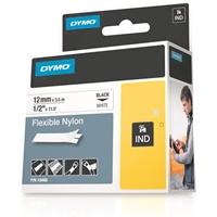 Tarrakasetti Dymo RhinoPro nylon 12mm valkoinen 3,5 m