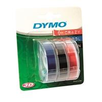 KohokirjoitinTeippi Dymo 9mmX3m/3rll värilajitelma