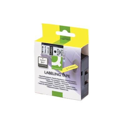 Tarrakasetti Q-Connect 45803 19mm val/musta - vaihtoehtoinen tarrakasetti Dymo tarratulostimiin